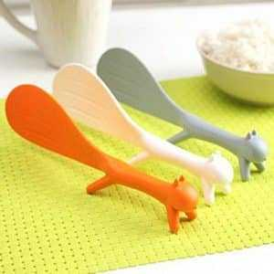 Cute Squirrel Shaped Non-Stick Eco-Friendly Plastic Turner