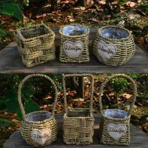Handmade Style Baskets for Garden